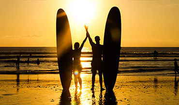 1 to 1, 2 to 1 private surfing tuition. Learn to surf this summer with qualified surf instructors.