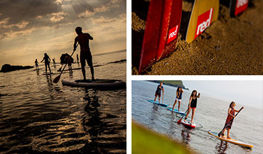 Professional stand up paddleboarding SUP tuition with top of the range Red Paddle Co boards and paddles.